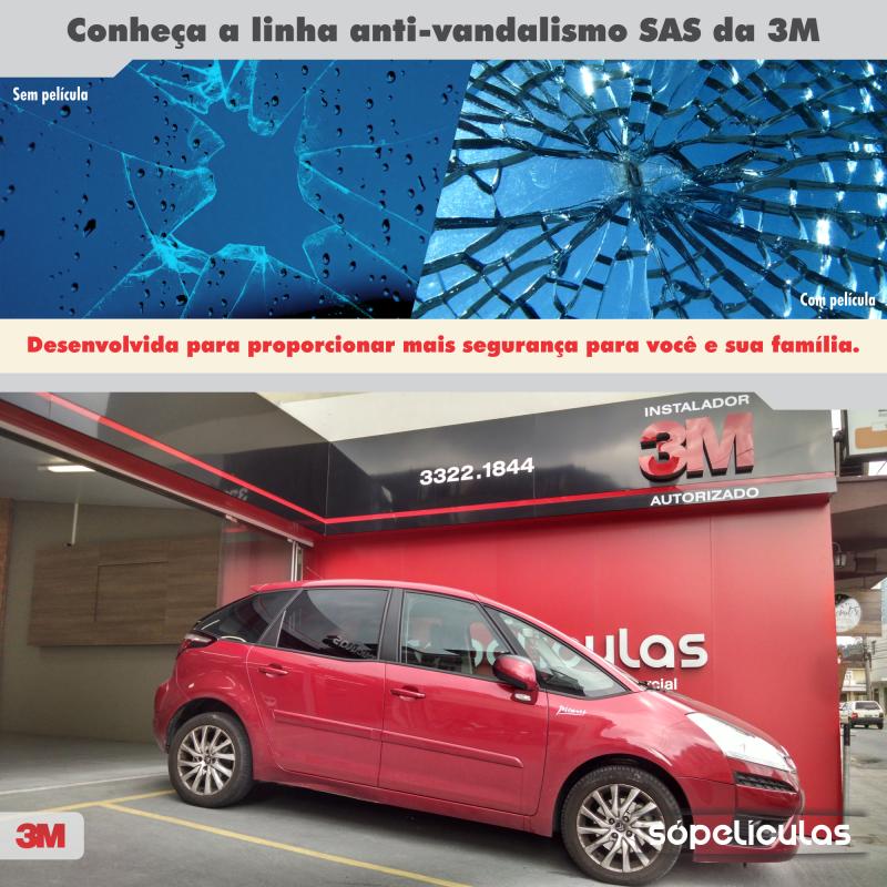 Conheça a linha anti- vandalismo SAS da 3M, desenvolvida para proporcionar mais segurança para você e sua família.